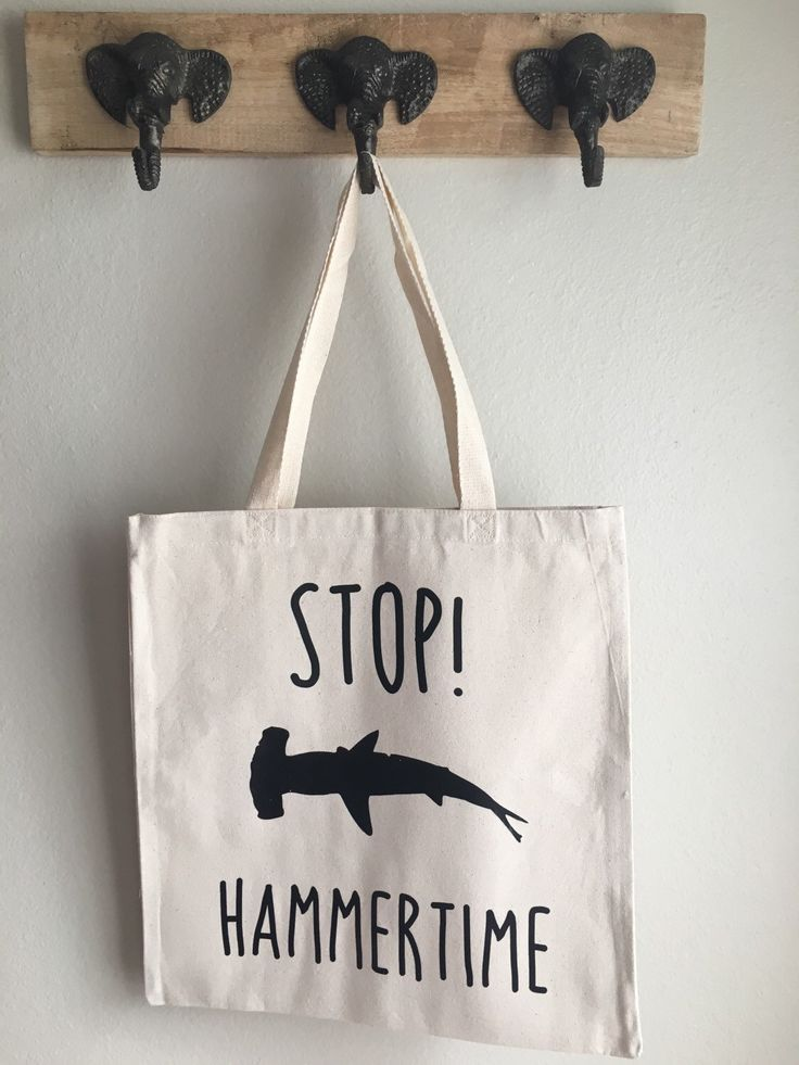 Stop. Hammertime! Tote Bag, Hammerhead Tote Bag, Shark Tote Bag, Shark Silhouette Tote Bag, Animal Pun Tote Bag, Funny Tote Bag by ThePunnyPachyderm on Etsy https://www.etsy.com/listing/260453405/stop-hammertime-tote-bag-hammerhead-tote