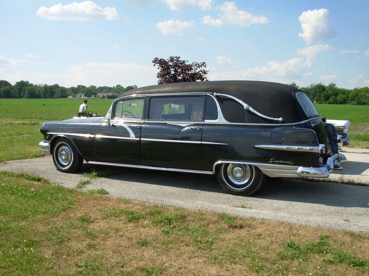 1956 pontiac hearse station wagon cars flower car