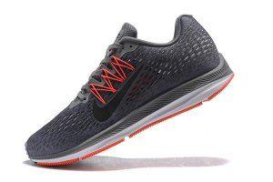 333c5a9e1ef Mens Nike Air Zoom Winflo 5 Gunsmoke Oil Grey Thunder Grey AA7406 006  Running Shoes