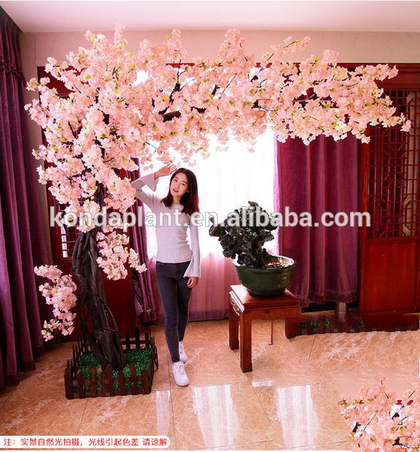 Uvg Huge Fake Cherry Blossom Trees In Fiberglass Trunk For Photography Backdrop Decoration Chr162 Photography Backdrop Cherry Blossom Tree Tree