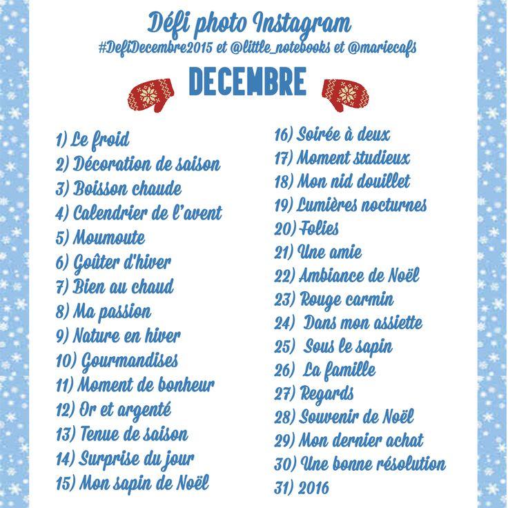 defi photo instagram décembre