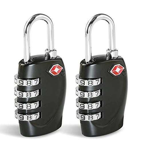 afa0dc6ed0be TSA Approved Luggage Locks, Suitcase Lock [2 Pack] CFMOUR 4-Digit ...