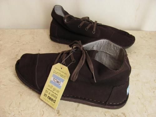 Toms-Mens-Desert-Botas-Shoes-Size-14-Brown-Suede-Chukka-Oxford-Hiking-NEW