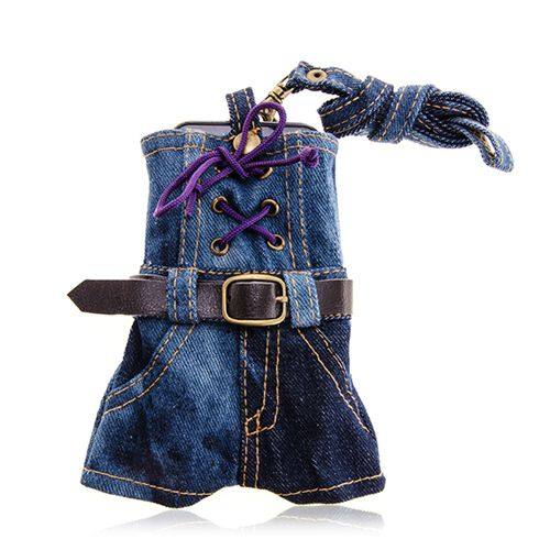 Jeans Skirt Pouch For Mobile Phone #jeans #skirt #pouch ##smartphone $9.25