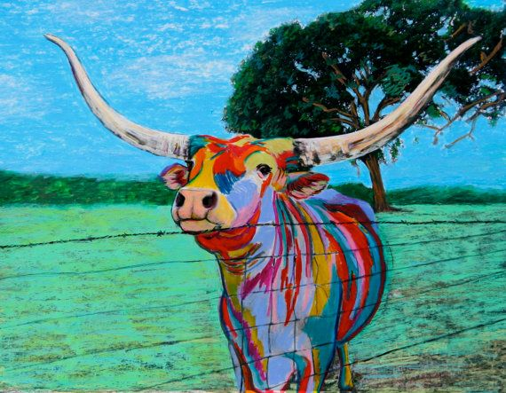 Mesquite Joe II the Texas Longhorn by Leicalady on Etsy, $175.00