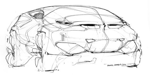 BMW sketches by Nahuel Battaglia, via Behance