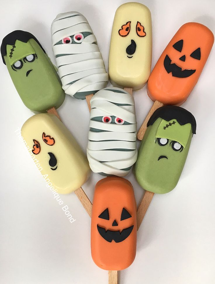 Halloween choco lolly's (chocolate) Made by Angelique Bond from the Netherlands