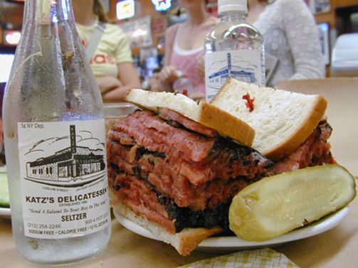 Katz's - loud, rowdy, delicious, decadent... you can't come to the city and not eat here.