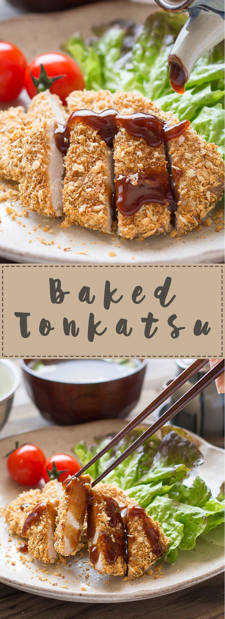 Elevate thinly sliced pork to a whole new level! This Tonkatsu recipe is coated in Panko Bread Crumbs, then baked in the oven instead of traditionally deep fried, for much healthier results.