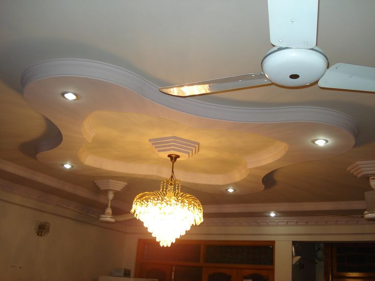 Modern false bedroom designs ceiling pop with white fan on plafond as well as great glass - Bed plafond ...