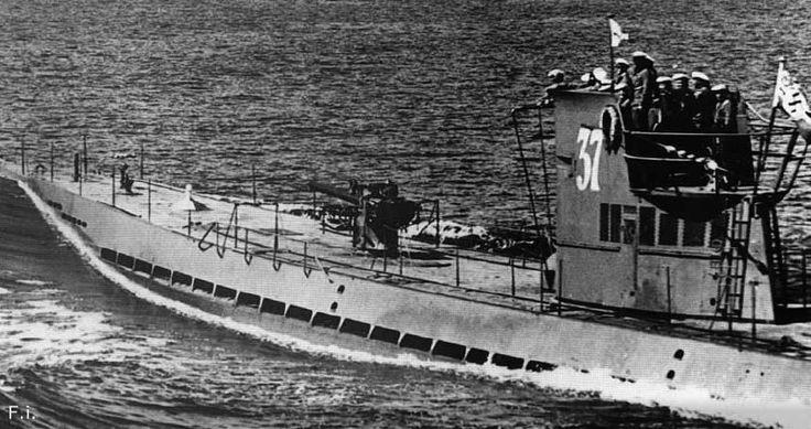U-37 — первая большая океанская немецкая подводная лодка типа IX-A. Лодка была заложена на верфи судостроительной компании «АГ Везер» в Бремене 15 марта 1937 года. Спущена на воду 14 мая 1938 года. У лодки была успешная и результативная боевая карьера. U-37 совершила 11 боевых походов, потопила 53 судна (200 124 брт), 1 военный корабль и 1 ПЛ и повредила 1 судно (9 494 брт). 1 мая 1941 года U-37 была переведена в 26-ю учебную флотилию, базировавшуюся в Пиллау, в виде учебной лодки. Позднее…