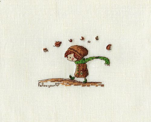 Follow your heart - cross stitch