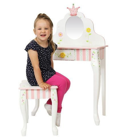 Princess & Frog Vanity Table & Stool