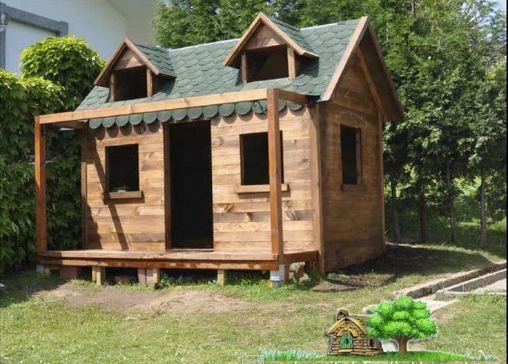 V deo proceso de construcci n de una casita en el jard n for Casita madera jardin