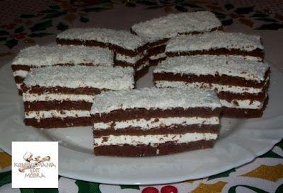 Receptek, és hasznos cikkek oldala: Kókuszos krémes,kakaós sütemény
