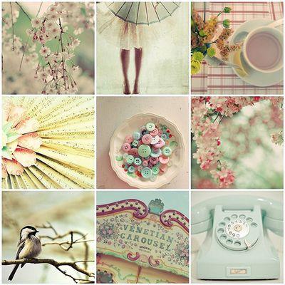 mint and blush pink
