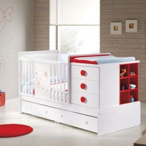 Practical-and-Functional-Furnitures-for-Baby-Nursery-and-Kids-Room-from-Micuna-functional-white-and-red-baby-cot-290x290 by quynhnga0130