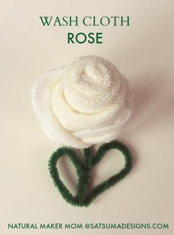How to Make a Washcloth Rose I'm a sucker for any cute folded creation - origami animals, fortune cookies and...