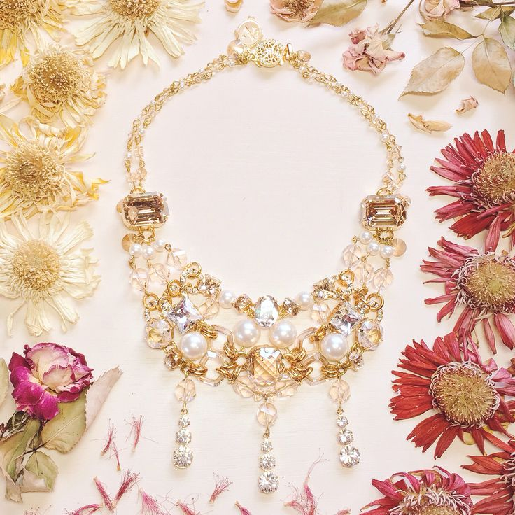 Beautifully incorporating such soft and feminine tones reflected in the combination of SWAROVSKI crystals and pearls, this couture necklace matches the same radiant glow as the bride to be herself. Made for not only the special day but easily wearable for any other day and event after. A lovely piece to add to her growing collection of exclusive NGC pieces. #nomikiglynatsiscouture #ngc #luxurywedding #vscocam #luxury #wedding #bride #bridal #redcarpet #exclusive #couture #coutureweddings
