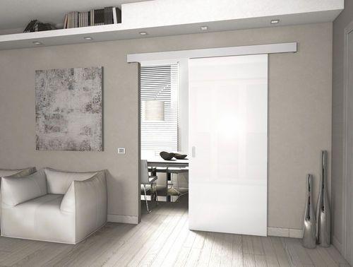 syst me d 39 accrochage en aluminium pour porte coulissant sur rail libbry protek maison. Black Bedroom Furniture Sets. Home Design Ideas