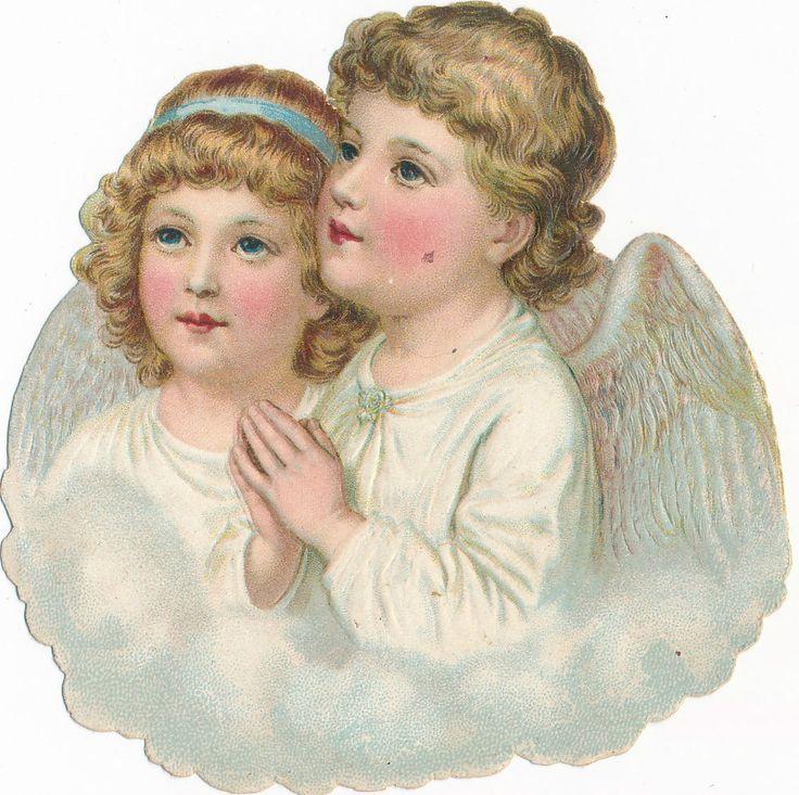 Nr  13 Litho  Bild um 1910  Oblaten - Schutzengel