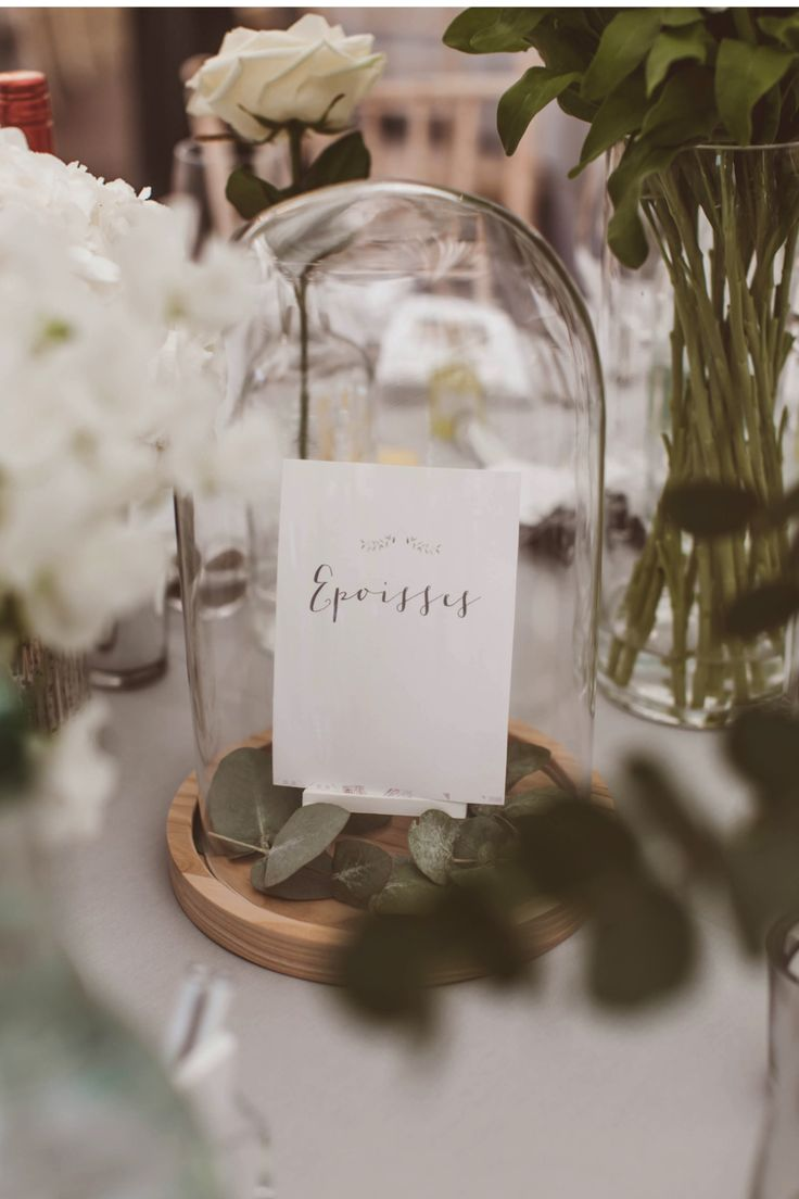 wedding table name card size%0A A white wedding with contemporary greenery details