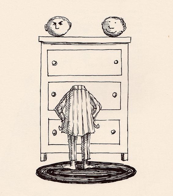 This illustrates how I feel most mornings // by Edward Gorey