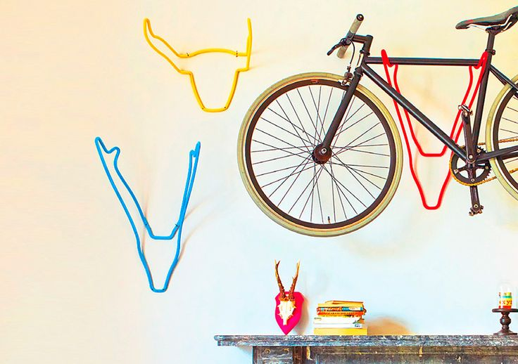 Wall-mounted bike holder from Graham & Green