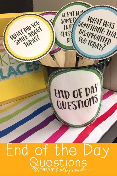 End of Day Questions - able to identify what they didn't understand, what they need to work on, etc.
