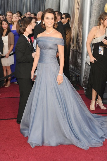 Penelope Cruz- Super conservative, but LUV the color! Reminds me of vintage DIOR