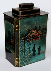 Huntley and Palmers, Japanese-tea-caddy-1936