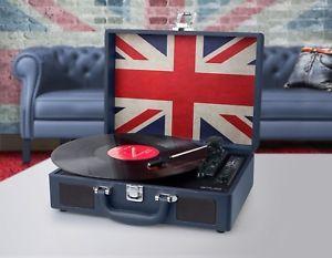 a tocadiscos maleta muse mt 102 uk con bateria altavoces y puerto usb
