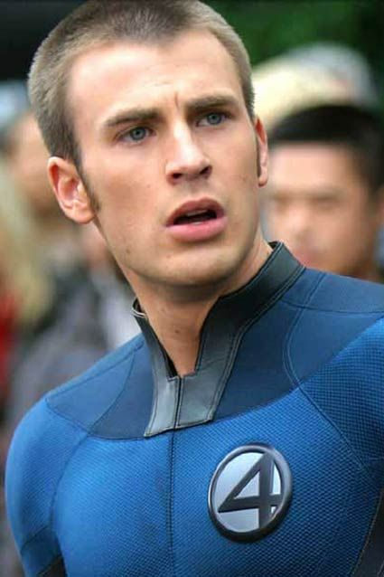 Human Torch    Chris Evans starred in the Fantastic Four in 2005.
