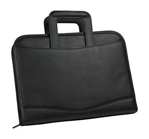Briefcase 3-Ring Binder Folder Portfolio Organizer Planner w/ Smart Handle