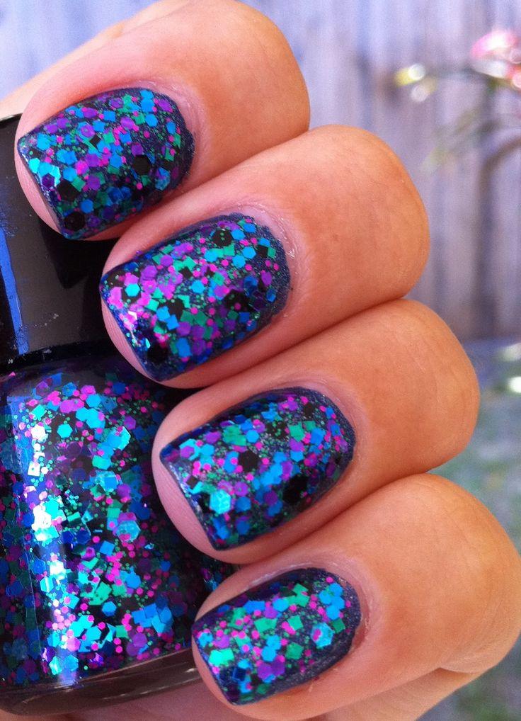 Picture Polish Mardi Gras nail polish (the glitter polish) is pretty.