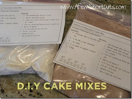 Tide You Over Tuesday: D.I.Y. Chocolate & Yellow Cake Mixes