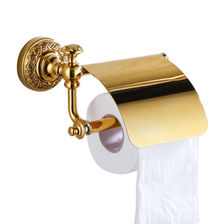 Aliexpress.com: Empire Sanitary co.,ltdより信頼できる アクセサリーのケーキ サプライヤからラグジュアリーウォールマウント真鍮ゴールド トイレットペーパー ホルダー ペーパー ボックストイレットホルダー ティッシュ ボックスバスルームアクセサリー B 6348Kを購入します