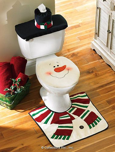 Snowman bathroom set