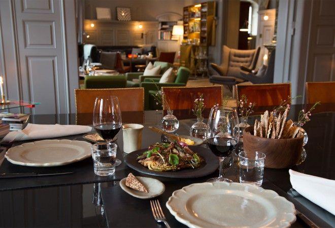 Dining Room in the Ett Hem Boutique Hotel, Stockholm, Sweden