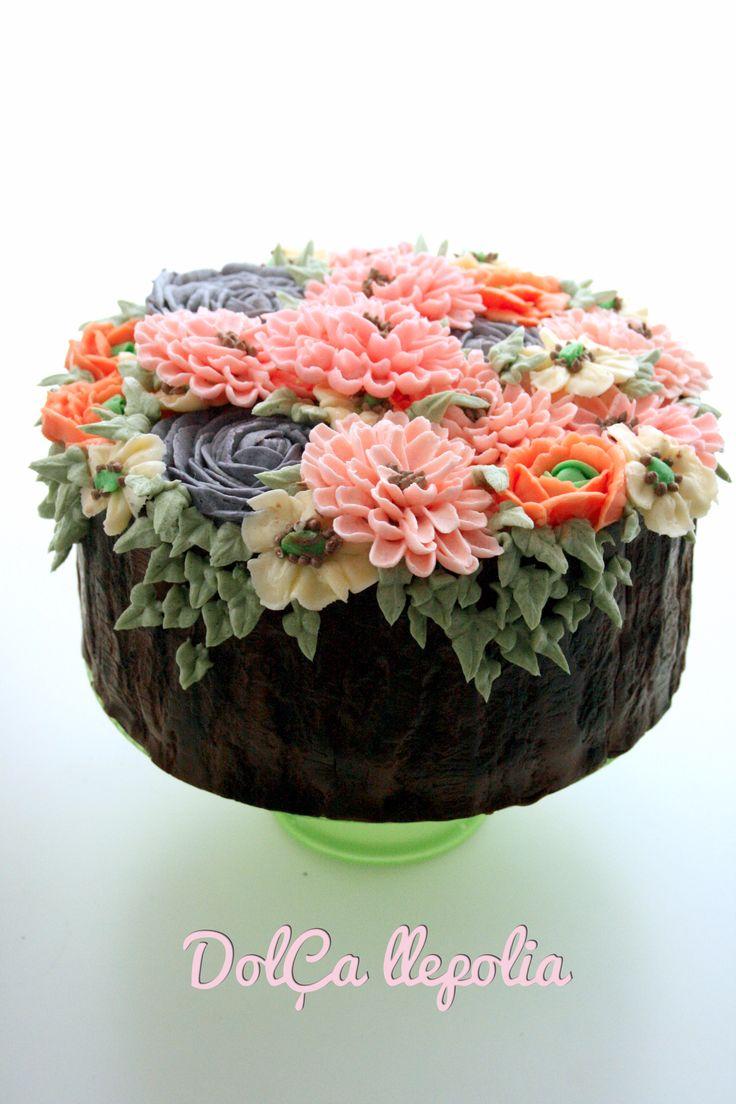 Cake buttercream flowers