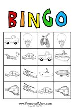 3 pages of transportation printables, bingo game, coloring sheets, word walls