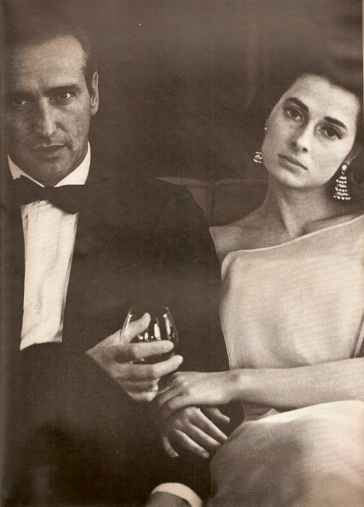 Princess Elizabeth of Yugoslavia (in Givenchy) and Howard Oxenberg, photographed by Diane Arbus (1965)