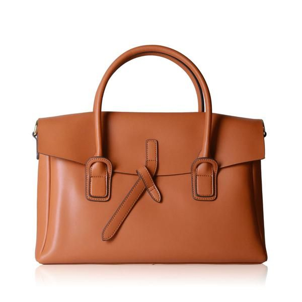 Briefcase - Brown   Hieleven Genuine Leather Bags for Women
