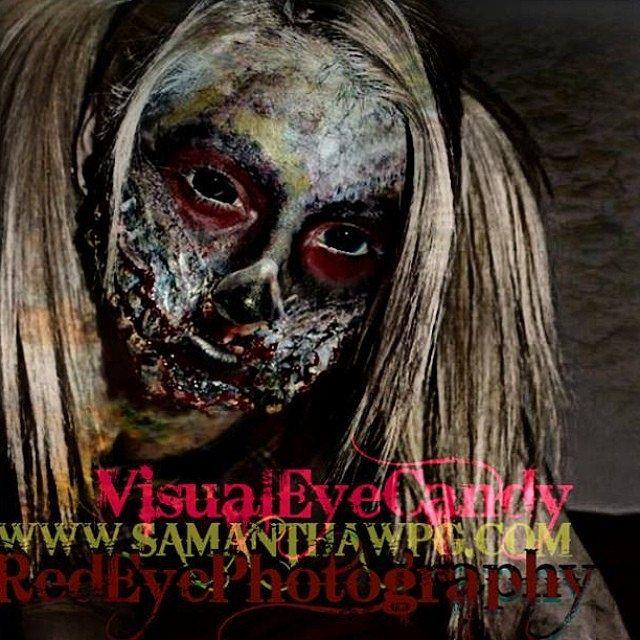 #SPFX #prosthesis #makeup by #VisualEyeCandy @Winnipeg Body Painting SamanthaWpg.Com www.samanthawpg.com #SamanthaAnnChristianson #bigevent at #2014zombieapocalypse #May 31st 8pm - 1am #BlumenortMB @European Body Art @ZombieAmmo #TargetsandTshirts @B L