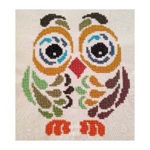 Art Deco Owl II is the title of this cross stitch pattern from Cross Stitch Wonder. How cute is this?