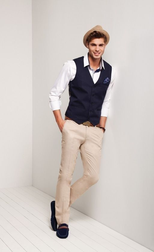27 best images about garden party attire on pinterest for Mens khaki shirt outfit