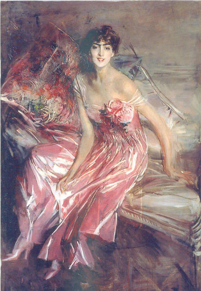 La Signora In Rosa (Emilia Concha de Fontecilla) - 1916 - by Giovanni Boldini (Italian, 1842-1931) - Museo 'Giovannie Boldini' Ferrara - Palazzo Massari