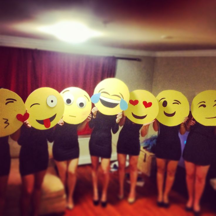 Emoji costume idea for grade-level team. Mask only - clothing would be conservative.