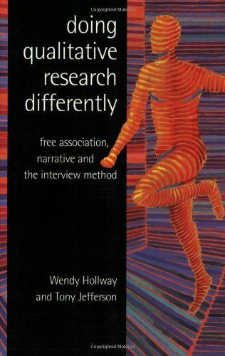 Doing Qualitative Research Differently: Free Association, Narrative and the Interview Method by Wendy Hollway. $57.95. Publication: April 28, 2000. Author: Wendy Hollway. Edition - 1. Publisher: SAGE Publications Ltd; 1 edition (April 28, 2000)