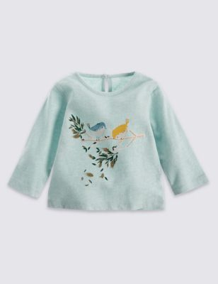 Cute and practical, this top is outstanding value for sweet, everyday style. The soft cotton will keep her happy and comfy all day.